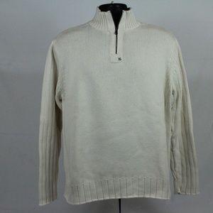 Ralph Lauren cream cable knit 1/4 zip sweater